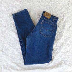Vintage Levi's 509 USA Made Orange Tab Jeans